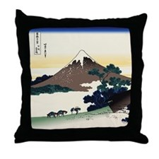 Hokusai Inume Pass Koshu Throw Pillow
