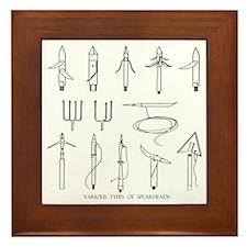 VINTAGE SPEARGUN TIPS Framed Tile