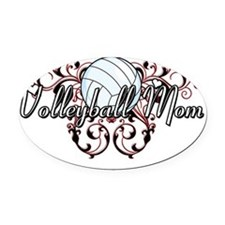 Volleyball Mom (tribal) Oval Car Magnet