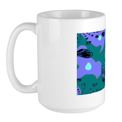 Outer Space Planet Cars Mug