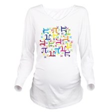 Pieces of Pi Long Sleeve Maternity T-Shirt