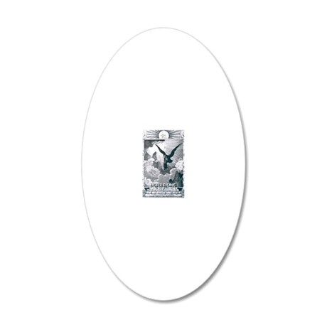 lucifer rising 20x12 Oval Wall Decal