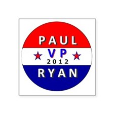 "Paul Ryan VP 2012 Square Sticker 3"" x 3"""