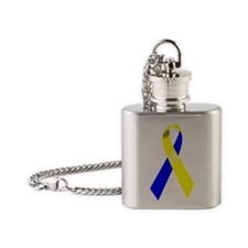 Cushings Disease/Syndrome Ribbon Flask Necklace