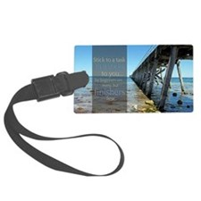 LDS Quotes- Stick to a task til  Luggage Tag