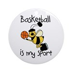 Bumblebee Basketball Ornament (Round)