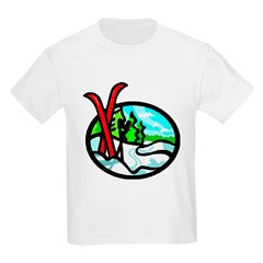 Skis Kids T-Shirt