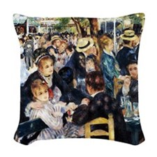 Renoir Le Moulin de la Galette Woven Throw Pillow