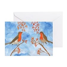 Robin Singing Competition Greeting Card