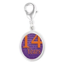 14 Year Recovery Birthday - You Silver Oval Charm