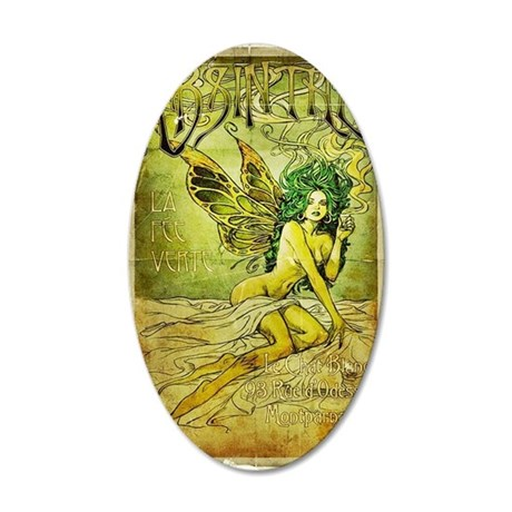 Vintage_Chick La Fee Vert 35x21 Oval Wall Decal