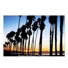 Sunset in Santa Barbara Postcards (Package of 8)