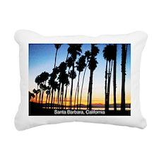 Sunset in Santa Barbara Rectangular Canvas Pillow