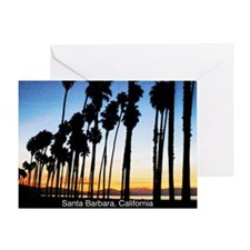 Sunset in Santa Barbara Greeting Card
