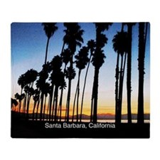 Sunset in Santa Barbara Throw Blanket
