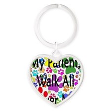 My Patients Walk All Over Me (Veter Heart Keychain