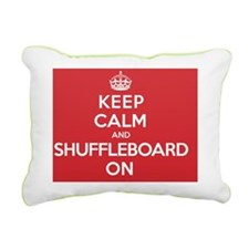 Keep Calm Shuffleboard Rectangular Canvas Pillow