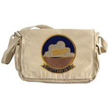 uss kitty hawk cva patch transparent Messenger Bag