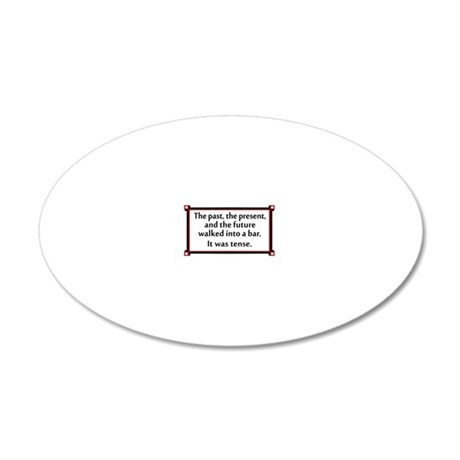 The past, the present, and t 20x12 Oval Wall Decal