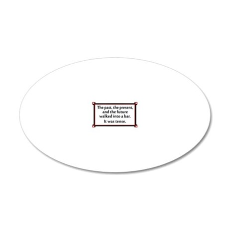 The past, present and future 20x12 Oval Wall Decal
