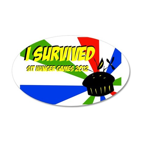 I Survived SIT Hunger Games  35x21 Oval Wall Decal