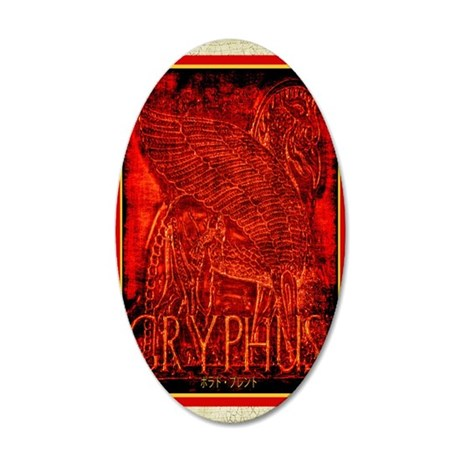 Gryphus 35x21 Oval Wall Decal