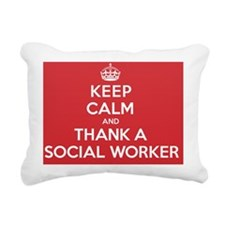 K C Thank Social Worker Rectangular Canvas Pillow