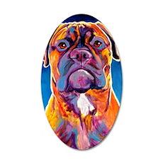 Mastiff #6 35x21 Oval Wall Decal
