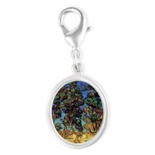 Trees in the Garden Silver Oval Charm