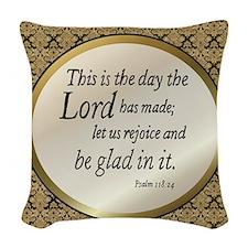 Psalms Woven Throw Pillow