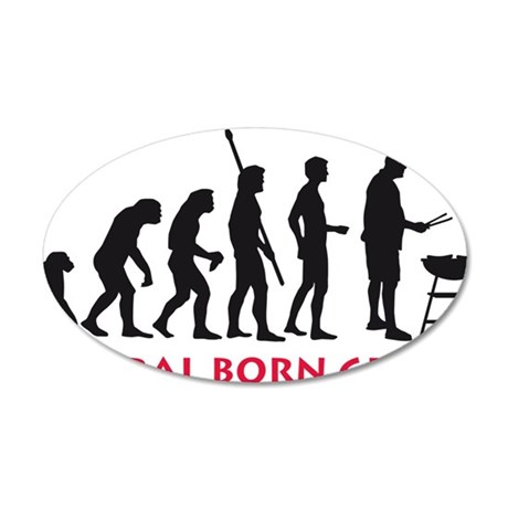natural born griller 35x21 Oval Wall Decal