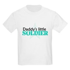 Daddy's Little Soldier Kids T-Shirt