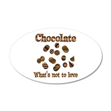 Chocolate to Love 20x12 Oval Wall Decal