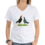 Thailand Gamefowl Women's V-Neck T-Shirt
