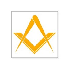 "Freemasonry Square and Comp Square Sticker 3"" x 3"""