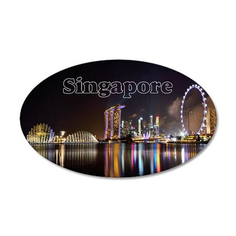 Singapore_2x3_magnet_Skyline 35x21 Oval Wall Decal