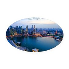 Singapore_4.25x5.5_NoteCards_Skyli Oval Car Magnet
