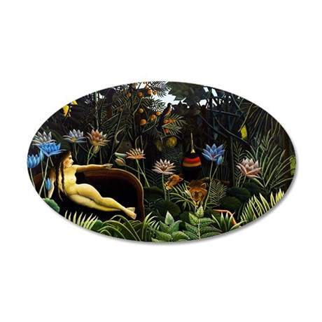 Henri Rousseau The Dream. 35x21 Oval Wall Decal