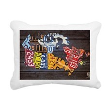 License Plate Map of Can Rectangular Canvas Pillow