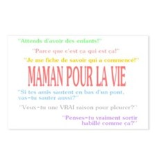 MAMAN POUR LA VIE HUMOUR  Postcards (Package of 8)