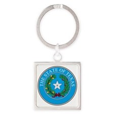 Texas State Seal Square Keychain