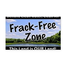 Frackfree Zone yard sign Rectangle Car Magnet