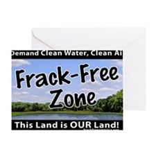 Frackfree Zone yard sign Greeting Card