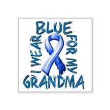 "I Wear Blue for my Grandma Square Sticker 3"" x 3"""