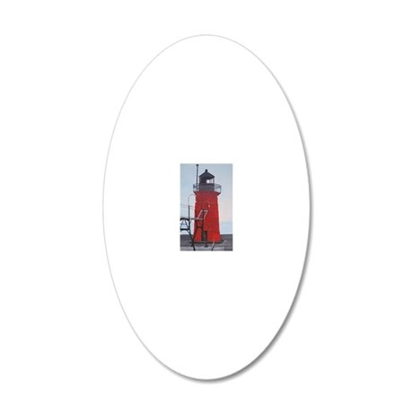 South Haven Lighthouse 20x12 Oval Wall Decal
