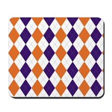 Clemson Argyle Sock Pattern South Caroli Mousepad