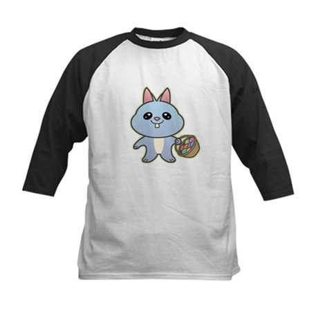 Blue Easter Bunny Kids Baseball Jersey