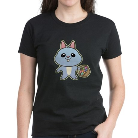 Blue Easter Bunny Women's Dark T-Shirt