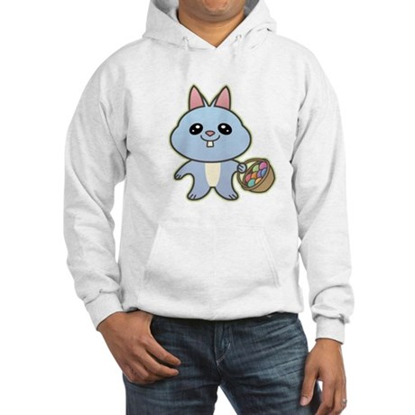 Blue Easter Bunny Hooded Sweatshirt