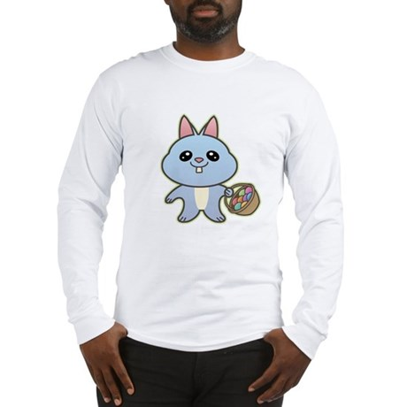 Blue Easter Bunny Long Sleeve T-Shirt